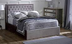 rhea grey ottoman storage fabric super king bed furniture choice