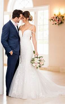 mermaid wedding dress with beaded straps stella york wedding gowns
