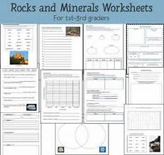 science worksheets on rocks 12343 rocks and minerals unit study resource packet earth science lessons third grade science