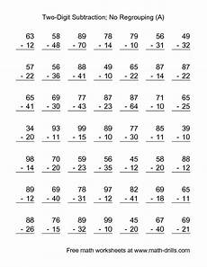 free math worksheets subtraction borrowing subtraction worksheet two digit subtraction with no