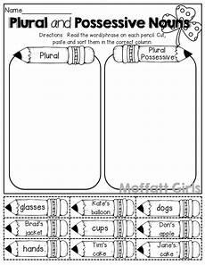 plural and possessive nouns cut and paste school ideas teach