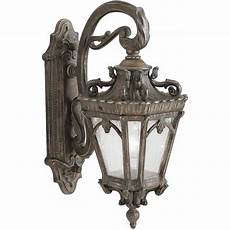 traditional victorian gothic exterior wall light fitting ornate bronze