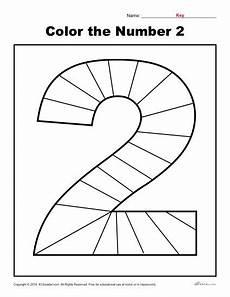 color the number 2 preschool number worksheets numbers preschool preschool activities