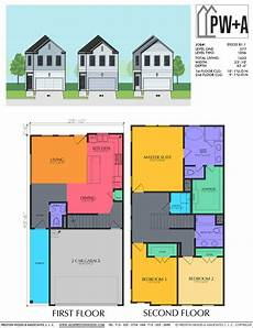 14 best simple 2 story two story townhome plan e9253 b1 1 duplex floor plans