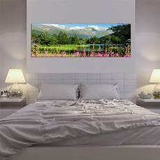 wandbild wohnzimmer leinwand bilder horizont landschaft berge natur wandbild