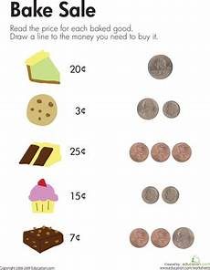 counting coins at the bake sale worksheet education com