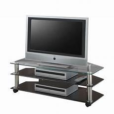 tv wagen tv wagen latitia metall glas verchromt schwarz klar