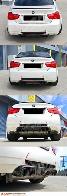 vorsteiner style real carbon fiber rear bumper bar diffuser for bmw m3 e90 sedan mars performance