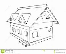 House Sketch Stock Illustration Illustration Of Empty