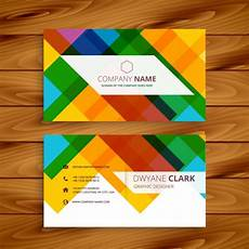 colorful name card template colorful business card in abstract design vector free