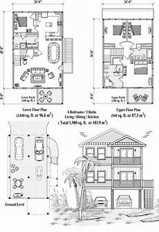waterfront house plans on pilings online house plan 1980 sq ft 4 bedrooms 3 baths two