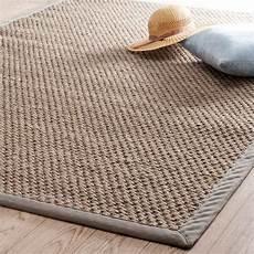 tappeti maison du monde tappeto intrecciato beige in sisal 140 x 200 cm bastide