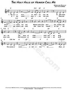 dottie rambo quot the holy hills of heaven call me quot sheet music leadsheet in c major transposable