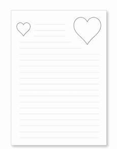 Kinder Malvorlagen Linienpapier Briefpapier Liebesbrief Herzen Kostenlos Ausdrucken
