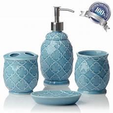 Badezimmer Accessoires Blau - turquoise blue accessory bathroom set soap home decor