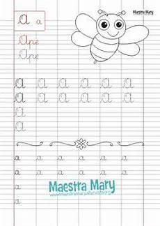 scrivere lettere d classe prima italiano la vocale a schede didattiche da