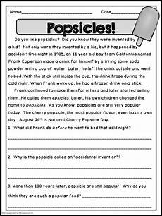 poetry comprehension exercises with answers 25540 summer reading passages summer reading comprehension comprehension passage reading passages