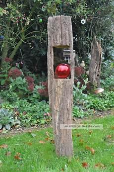 Holzbalken Deko Garten - windlicht kerzenhalter holzbalken antik gartendeko