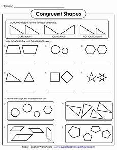 geometry worksheets congruent and similar shapes