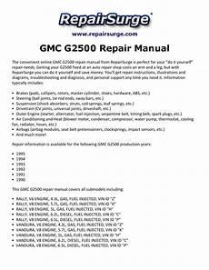 motor repair manual 1995 gmc vandura g2500 head up display gmc g2500 repair manual 1990 1995 by walker hodge issuu