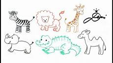 Ganz Einfach Tiere Zeichnen Zoo Schnell Malen How To