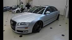 audi a8 d3 facelift lowered show car silver colour