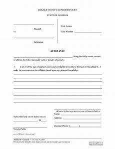 general affidavit form free printable documents