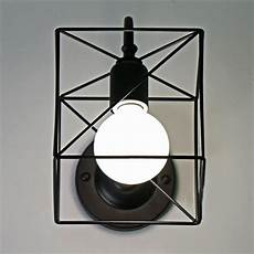black white retro vintage industrial wire cage wall sconce iron cage wall ls