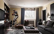 living rooms that sport a book wall murals decals sports themed interiors