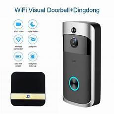 Apartment Door Viewer Bell by Smart Wifi Wireless Door Bell Viewer Ring