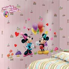 mickey mouse minnie mouse wall sticker home decor cartoon wall decal diy for kids room decal