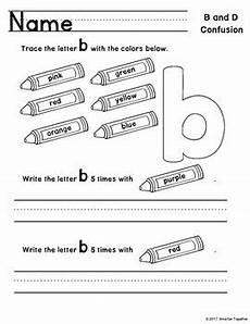 letter discrimination worksheets 23059 letter discrimination worksheets b and d by smarter together tpt
