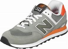 new balance ml574 shoes grey orange
