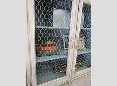 Vintage Finds: Chicken Wire Cabinet