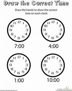 time on the hour worksheets for kindergarten 3611 analog clocks draw the time worksheet education