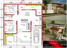 Denah Rumah Type 54 Ukuran 9 5 X 10 5 Meter Jasa Desain