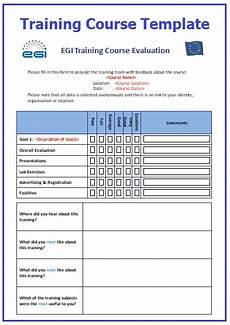 training course templates 12 free printable word pdf formats
