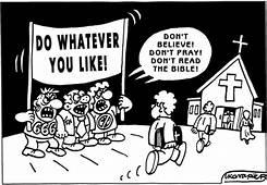 Do Whatever You Like By Igor Kolgarev  Religion Cartoon