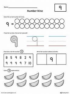 number 9 practice worksheet myteachingstation com