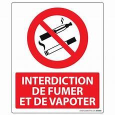 Panneau D Interdiction De Fumer Et Vapoter En Pvc Ou
