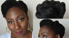 quick updo for mid length natural hair with images