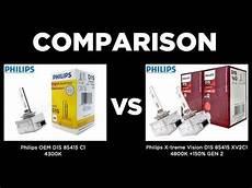 philips oem d1s 4300k vs philips x tremevision d1s 4800k