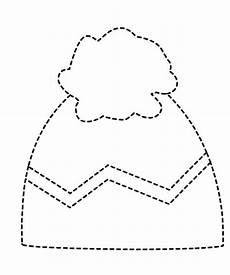 winter hat trace line worksheet 1 crafts and