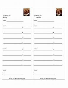 receipt template for role play cafe by rehat teaching