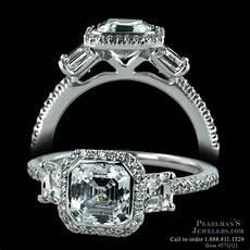 ritani ritani three stone asscher engagement ring