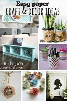 creative craft and decor ideas using paper our house now
