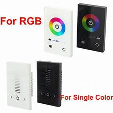 glass touch panel dimmer controller wall switch for rgb
