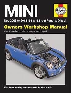car repair manuals online pdf 2009 mini clubman regenerative braking 2006 2013 mini mk2 clubman first one s gas diesel haynes repair service manual