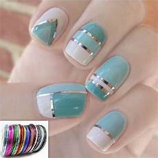30 rolls nail art metallic yarn nails line nail design