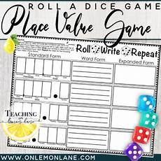 roll write repeat place value dice game by teaching lemon teachers pay teachers